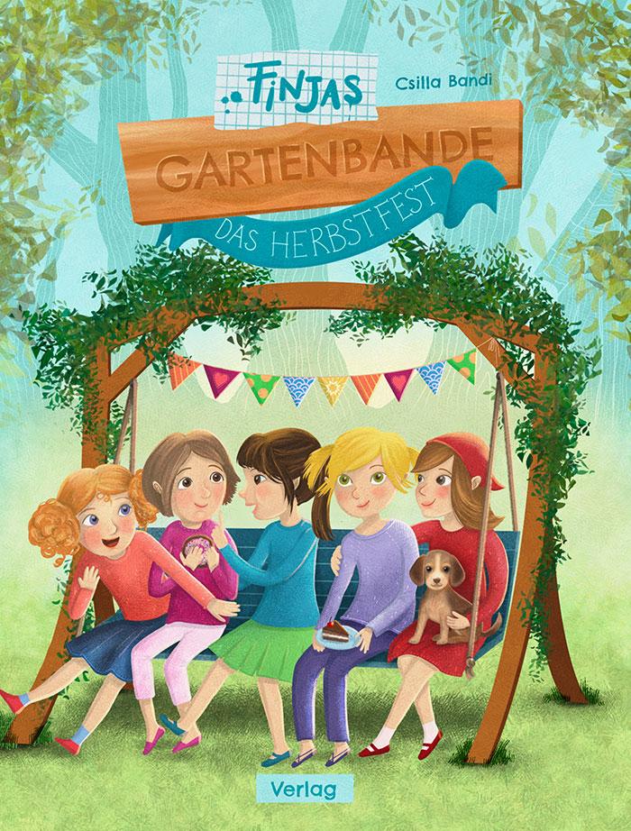 Mädels auf der Gartenschaukel