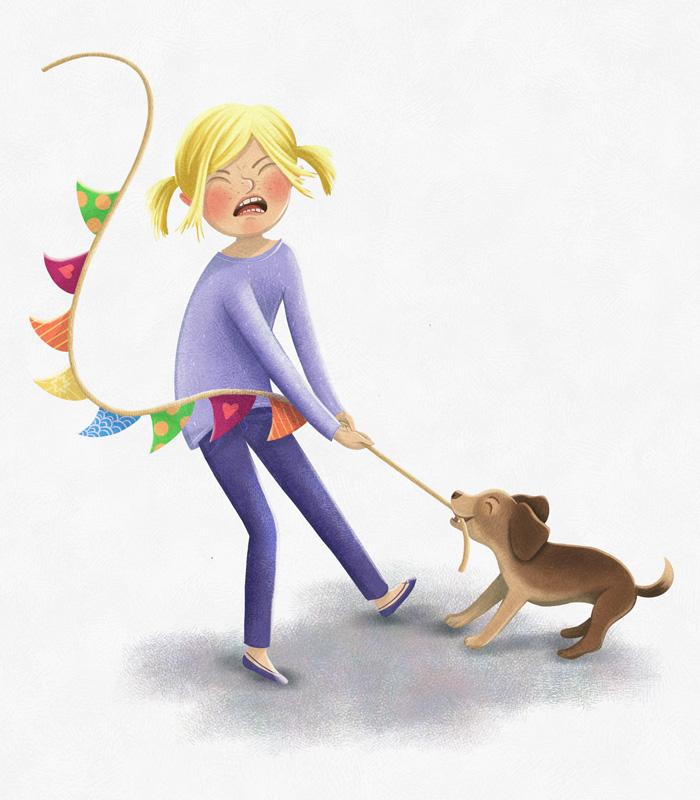 Finja mit kleinem Hund