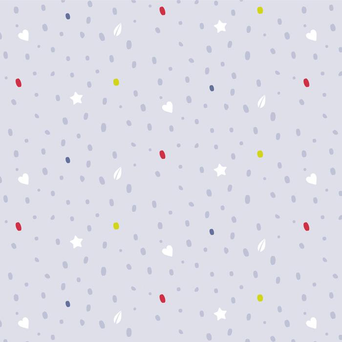 Muster mit Sternen Herzen Blättern