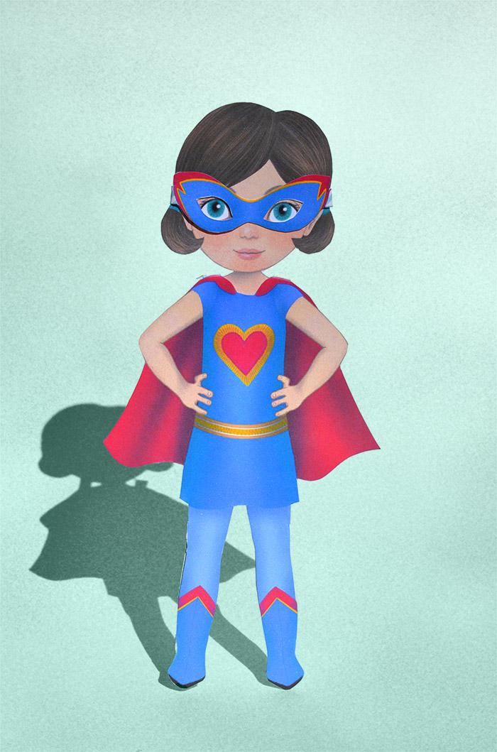 Anziehpuppe Supergirl
