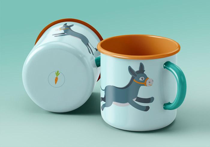 Tasse mit Eselchen