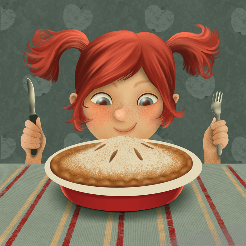 Mädchen mit Apfelkuchen