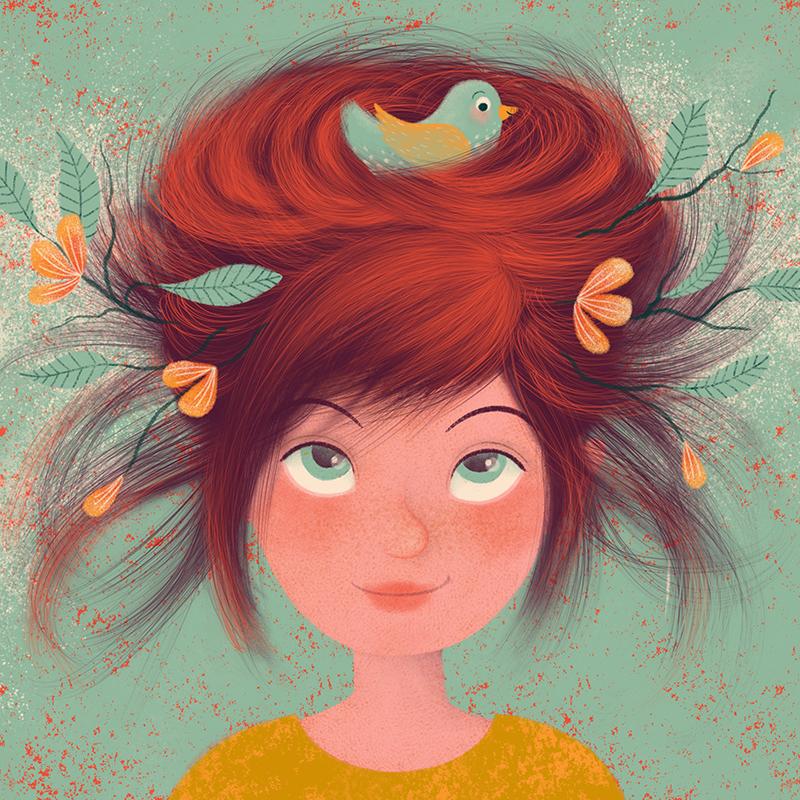 Haare als Nest