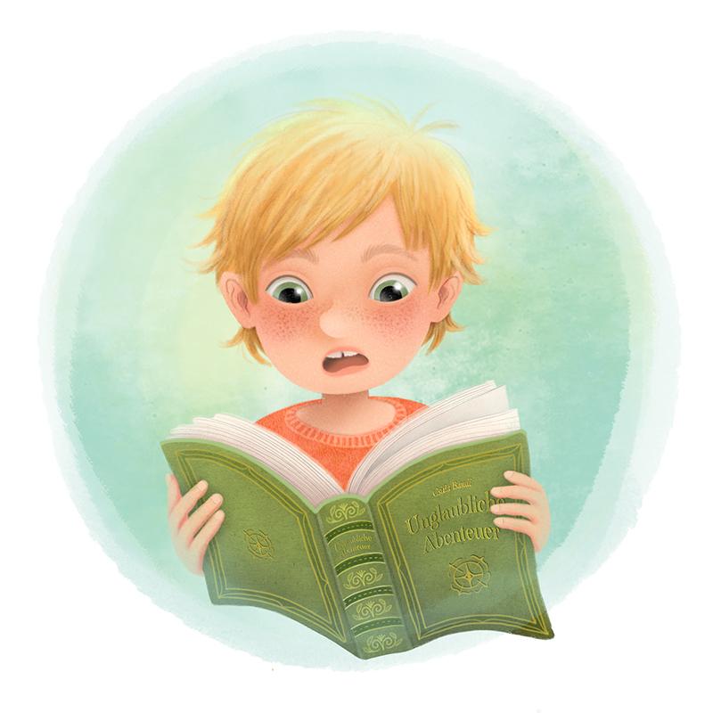 Lesender Bub