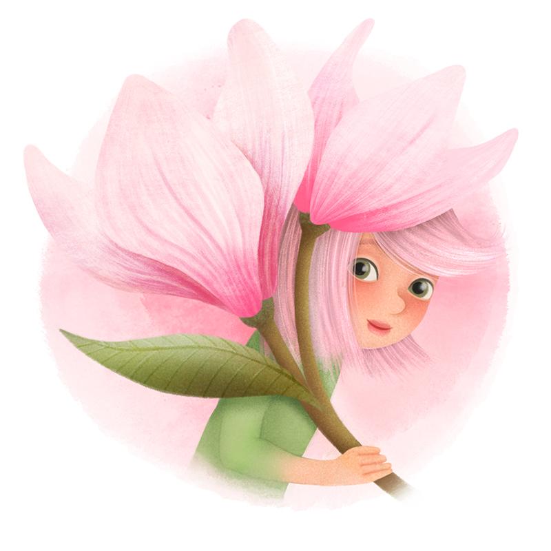 Magnolienmädchen